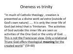 oneness vs trinity