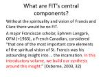 what are fit s central components
