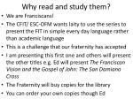 why read and study them
