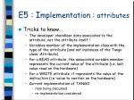 e5 i mplementation attributes