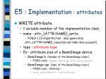 e5 i mplementation attributes4