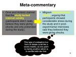 meta commentary