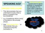 speaking ao2