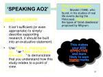 speaking ao22