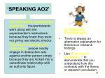 speaking ao23