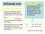 speaking ao24