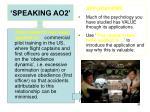 speaking ao26