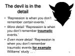 the devil is in the detail1