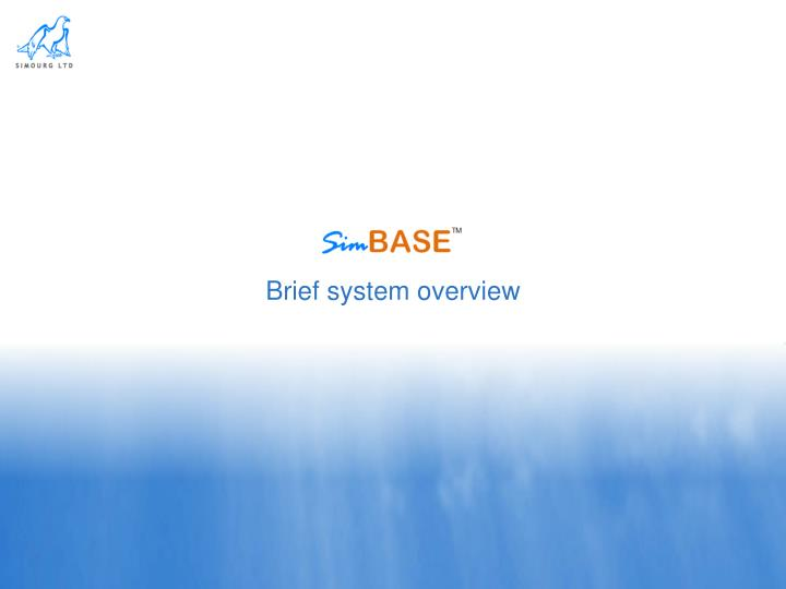 brief system overview n.