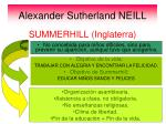 alexander sutherland neill