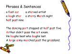 phrases sentences