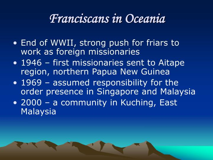 Franciscans in Oceania