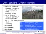 cyber solutions defense in depth