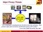 major privacy threats
