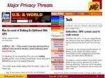 major privacy threats1