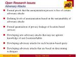 open research issues adversary attacks