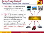 service privacy trade off case study pay per use insurance