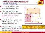 third trusted party architecture hilbert k anonymizing