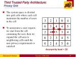 third trusted party architecture privacy grid