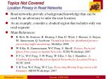 topics not covered location privacy in road networks