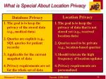 what is special about location privacy1