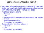 ecorep replica allocation cont