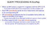 query processing in ecorep