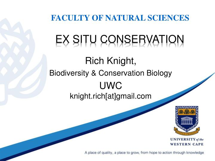 ex situ conservation n.