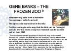 gene banks the frozen zoo 91