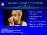 chronic disease prevention and control
