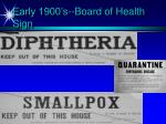 early 1900 s board of health sign