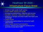 healthiest wi 2020 infrastructure focus areas