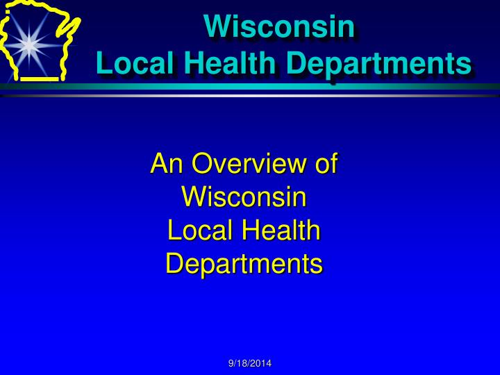wisconsin local health departments n.