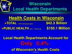 wisconsin local health departments1