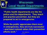 wisconsin local health departments7