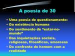 a poesia de 30