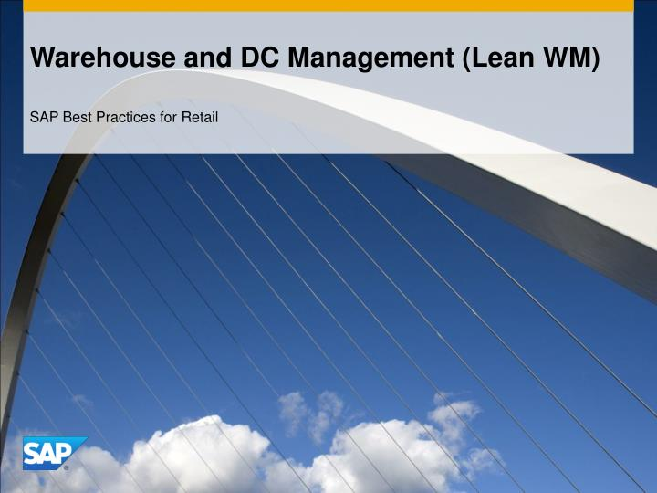 warehouse and dc management lean wm n.