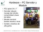 hardware pc servidor y modulo