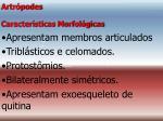 artr podes caracter sticas morfol gicas