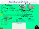secondary active indicative4