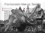 frankenstein man vs society