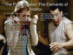 the piano lesson the elements of horror