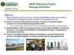nfst planning project storage activities