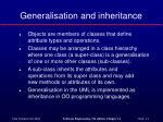 generalisation and inheritance