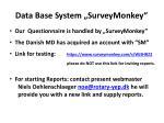 data base system surveymonkey