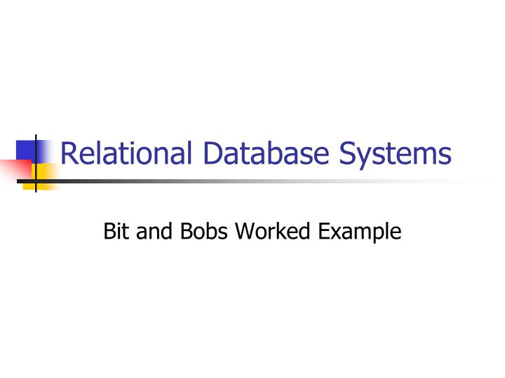relational database systems n.