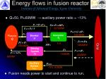 energy flows in fusion reactor