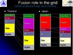 fusion role in the grid