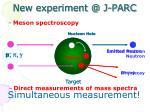 new experiment @ j parc