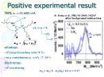 positive experimental result